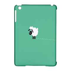 Goat Sheep Green White Animals Apple Ipad Mini Hardshell Case (compatible With Smart Cover)