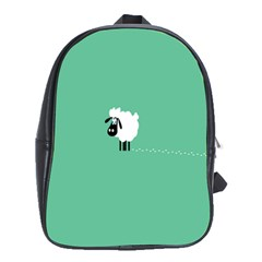Goat Sheep Green White Animals School Bags (xl)