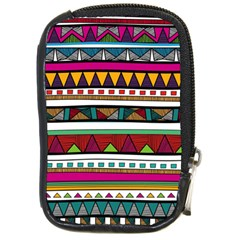 Woven Fabric Triangle Color Rainbow Chevron Wave Jpeg Compact Camera Cases