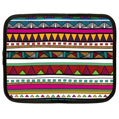 Woven Fabric Triangle Color Rainbow Chevron Wave Jpeg Netbook Case (xl)  by Alisyart