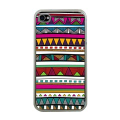 Woven Fabric Triangle Color Rainbow Chevron Wave Jpeg Apple Iphone 4 Case (clear) by Alisyart