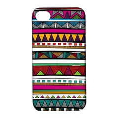 Woven Fabric Triangle Color Rainbow Chevron Wave Jpeg Apple Iphone 4/4s Hardshell Case With Stand by Alisyart