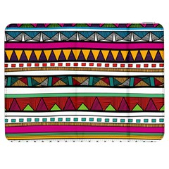 Woven Fabric Triangle Color Rainbow Chevron Wave Jpeg Samsung Galaxy Tab 7  P1000 Flip Case