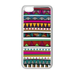 Woven Fabric Triangle Color Rainbow Chevron Wave Jpeg Apple Iphone 5c Seamless Case (white)