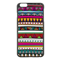Woven Fabric Triangle Color Rainbow Chevron Wave Jpeg Apple Iphone 6 Plus/6s Plus Black Enamel Case by Alisyart