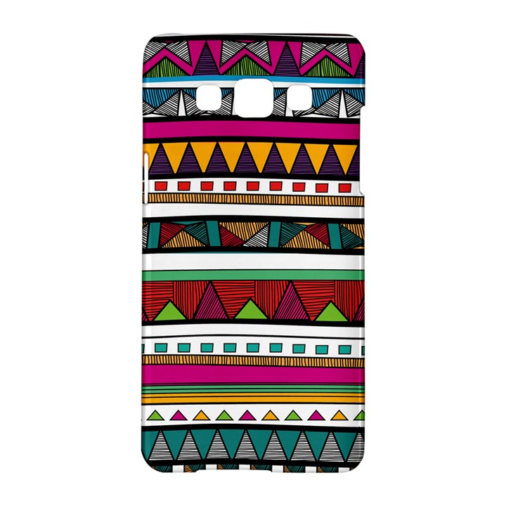 Woven Fabric Triangle Color Rainbow Chevron Wave Jpeg Samsung Galaxy A5 Hardshell Case