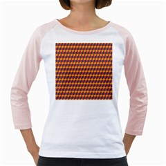 Geometric Plaid Red Orange Girly Raglans by Alisyart