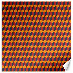 Geometric Plaid Red Orange Canvas 20  X 20