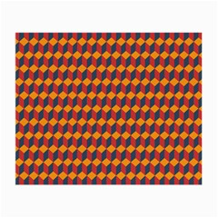 Geometric Plaid Red Orange Small Glasses Cloth (2 Side)