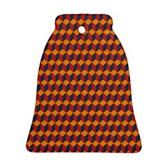 Geometric Plaid Red Orange Bell Ornament (two Sides) by Alisyart