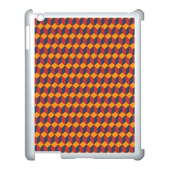 Geometric Plaid Red Orange Apple Ipad 3/4 Case (white)