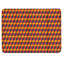 Geometric Plaid Red Orange Samsung Galaxy Tab 7  P1000 Flip Case