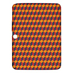 Geometric Plaid Red Orange Samsung Galaxy Tab 3 (10 1 ) P5200 Hardshell Case  by Alisyart