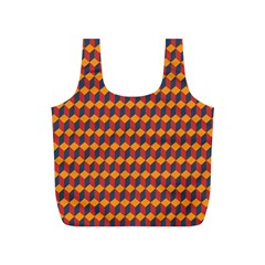 Geometric Plaid Red Orange Full Print Recycle Bags (s)  by Alisyart