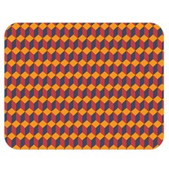 Geometric Plaid Red Orange Double Sided Flano Blanket (medium)  by Alisyart
