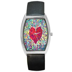 Geometric Heart Diamonds Love Valentine Triangle Color Barrel Style Metal Watch by Alisyart