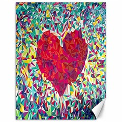 Geometric Heart Diamonds Love Valentine Triangle Color Canvas 12  X 16   by Alisyart
