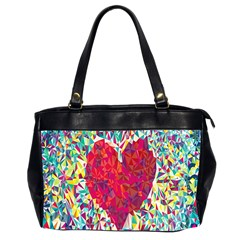 Geometric Heart Diamonds Love Valentine Triangle Color Office Handbags (2 Sides)  by Alisyart