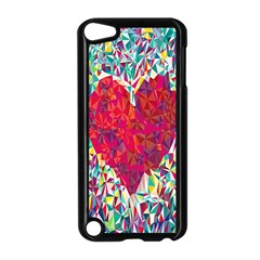 Geometric Heart Diamonds Love Valentine Triangle Color Apple Ipod Touch 5 Case (black) by Alisyart