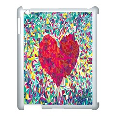 Geometric Heart Diamonds Love Valentine Triangle Color Apple Ipad 3/4 Case (white)