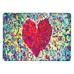 Geometric Heart Diamonds Love Valentine Triangle Color Samsung Galaxy Tab 10 1  P7500 Flip Case