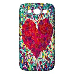 Geometric Heart Diamonds Love Valentine Triangle Color Samsung Galaxy Mega 5 8 I9152 Hardshell Case  by Alisyart
