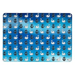 Goose Swan Anchor Blue Samsung Galaxy Tab 10 1  P7500 Flip Case