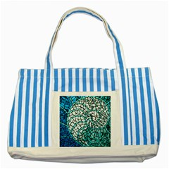 Glass Mosaics Blue Green Striped Blue Tote Bag