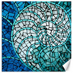 Glass Mosaics Blue Green Canvas 12  X 12
