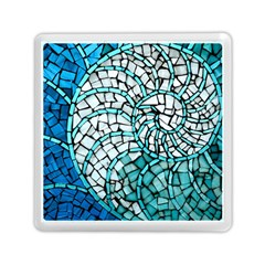 Glass Mosaics Blue Green Memory Card Reader (square)