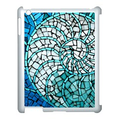Glass Mosaics Blue Green Apple Ipad 3/4 Case (white)
