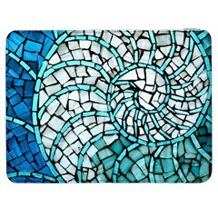Glass Mosaics Blue Green Samsung Galaxy Tab 7  P1000 Flip Case