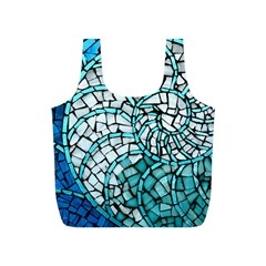 Glass Mosaics Blue Green Full Print Recycle Bags (s)  by Alisyart