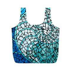 Glass Mosaics Blue Green Full Print Recycle Bags (m)  by Alisyart