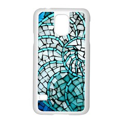 Glass Mosaics Blue Green Samsung Galaxy S5 Case (white)