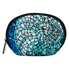 Glass Mosaics Blue Green Accessory Pouches (medium)