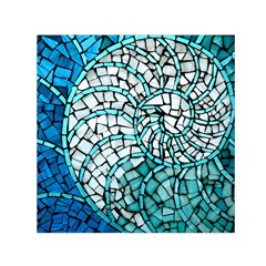 Glass Mosaics Blue Green Small Satin Scarf (square)