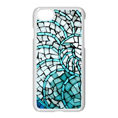 Glass Mosaics Blue Green Apple Iphone 7 Seamless Case (white)