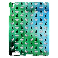 Goose Swan Hook Blue Green Apple Ipad 3/4 Hardshell Case