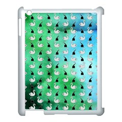 Goose Swan Hook Blue Green Apple Ipad 3/4 Case (white)