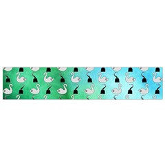 Goose Swan Hook Blue Green Flano Scarf (small)