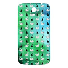 Goose Swan Hook Blue Green Samsung Galaxy Mega I9200 Hardshell Back Case by Alisyart