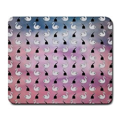 Goose Swan Hook Purple Large Mousepads
