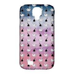 Goose Swan Hook Purple Samsung Galaxy S4 Classic Hardshell Case (pc+silicone)