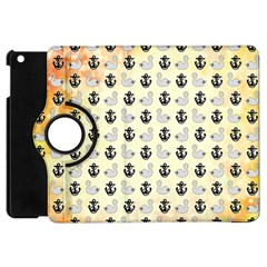 Goose Swan Anchor Gold Apple Ipad Mini Flip 360 Case