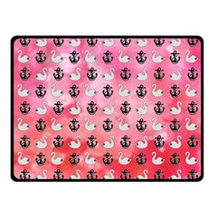Goose Swan Anchor Pink Fleece Blanket (small) by Alisyart