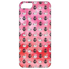Goose Swan Anchor Pink Apple Iphone 5 Classic Hardshell Case