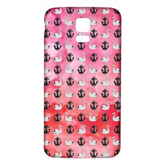 Goose Swan Anchor Pink Samsung Galaxy S5 Back Case (white) by Alisyart