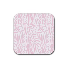 Graffiti Paint Pink Rubber Coaster (square)  by Alisyart