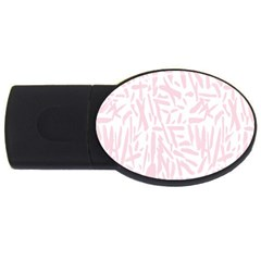 Graffiti Paint Pink Usb Flash Drive Oval (2 Gb)